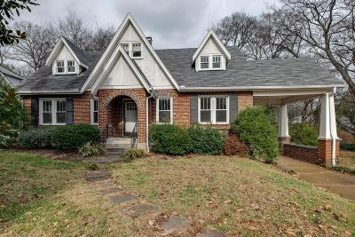 Nashville Single Family Home Under Contract - Showing: 1608 Green Hills Dr
