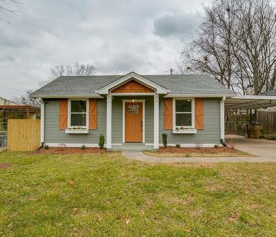 Nashville Single Family Home Under Contract - Not Showing: 1429 Electric Ave
