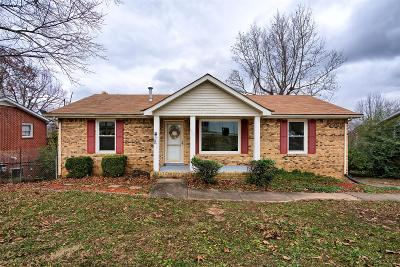 Clarksville TN Single Family Home Under Contract - Not Showing: $139,900