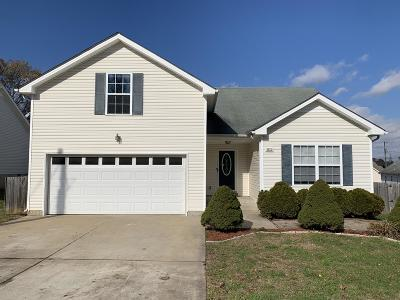 Clarksville TN Single Family Home Under Contract - Not Showing: $158,900