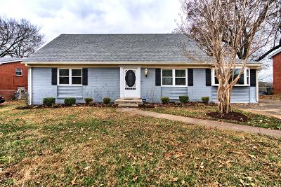 Clarksville TN Single Family Home Under Contract - Not Showing: $169,900