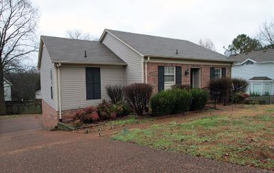 Nashville Single Family Home For Sale: 504 Fairhaven Ct