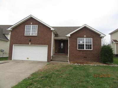 Clarksville TN Single Family Home For Sale: $164,500