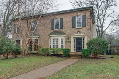 Nashville Single Family Home For Sale: 1135 Clifton Ln