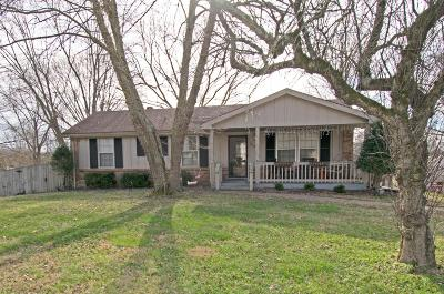 Clarksville Single Family Home Under Contract - Showing: 3104 E Old Ashland City Rd