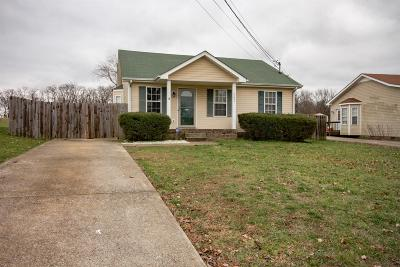 Clarksville Single Family Home Under Contract - Not Showing: 253 Cranklen Cir