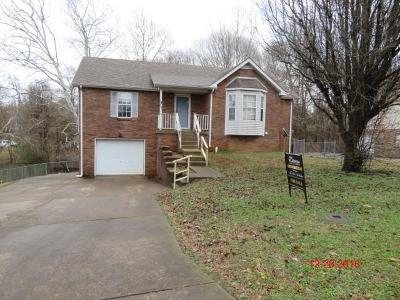 Clarksville Single Family Home Under Contract - Not Showing: 568 Somerset Ln