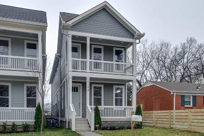 Nashville Single Family Home For Sale: 614 B N 2nd St