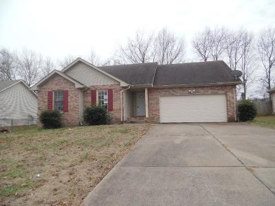 Clarksville Single Family Home Under Contract - Not Showing: 3224 S Senseney Cir