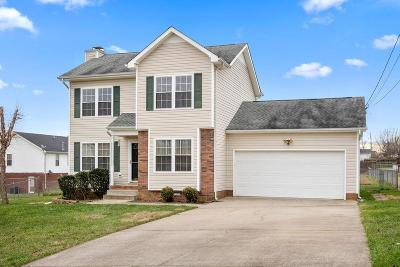 Clarksville Single Family Home Under Contract - Not Showing: 915 Dolphin Ln