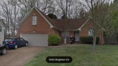 Old Hickory Single Family Home For Sale: 1442 Brighton Circle