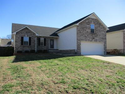 Clarksville Single Family Home Under Contract - Not Showing: 629 Deer Ridge Dr