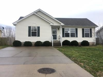 Clarksville Single Family Home Under Contract - Not Showing: 572 Oakmont Dr