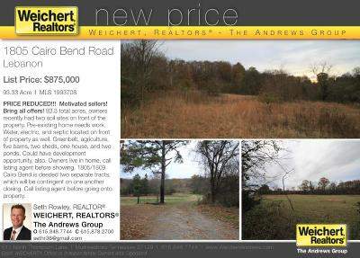 Lebanon Residential Lots & Land For Sale: 1809 Cairo Bend Rd