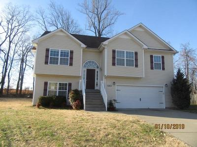 Clarksville Single Family Home Under Contract - Not Showing: 1305 Marcy Ct