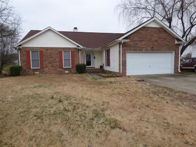 Clarksville Single Family Home Under Contract - Showing: 2441 Artie Manning Rd