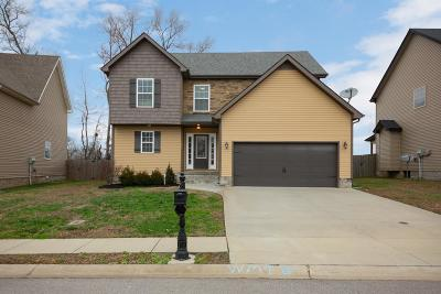 Clarksville Single Family Home Under Contract - Not Showing: 745 Sleek Fox Dr