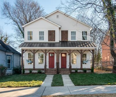 Nashville Single Family Home For Sale: 1017 A Monroe St