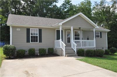 Clarksville TN Single Family Home Under Contract - Not Showing: $122,500