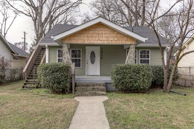 Nashville Single Family Home For Sale: 1216 Meridian St
