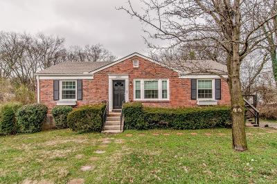 Nashville Single Family Home For Sale: 2403 Claypool St