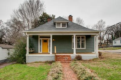 Nashville Single Family Home For Sale: 1715 Electric Ave