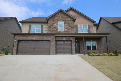 Clarksville TN Single Family Home Under Contract - Showing: $267,500
