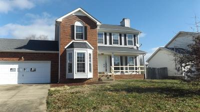 Clarksville Single Family Home Under Contract - Not Showing: 1249 Archwood Dr