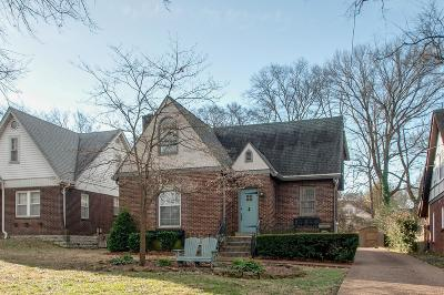 Nashville Single Family Home For Sale: 2603 Westwood Ave