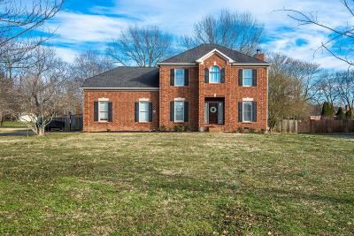 Franklin Single Family Home Under Contract - Showing: 1322 Caroline Cir