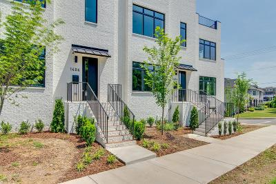 Nashville Condo/Townhouse For Sale: 1404 Wedgewood Ave