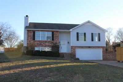 Clarksville Single Family Home Under Contract - Not Showing: 3110 Whitetail Dr
