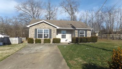 Clarksville Single Family Home Under Contract - Not Showing: 222 Lady Alice Ct