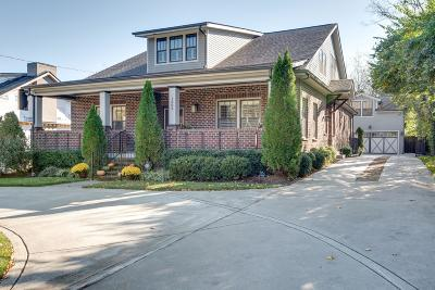Nashville Single Family Home For Sale: 1809 Sweetbriar Ave