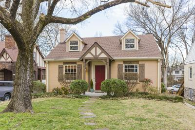 Nashville Single Family Home For Sale: 2606 Woodlawn Dr