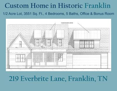 Franklin Single Family Home For Sale: 219 Everbright Ave