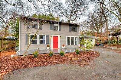 Nashville Single Family Home For Sale: 2808 B Westwood Ave