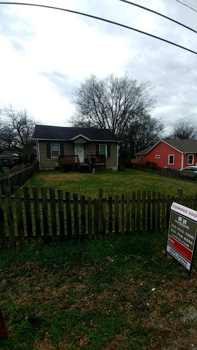 Davidson County Single Family Home Under Contract - Not Showing: 516 Wesley Ave