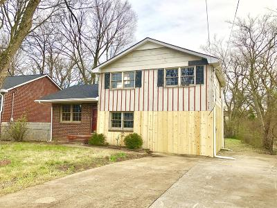 Nashville Single Family Home Under Contract - Not Showing: 3109 Greggwood Dr
