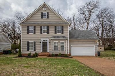 Thompsons Station  Single Family Home Under Contract - Not Showing: 2813 Overton Dr