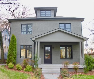 Nashville Single Family Home For Sale: 1009 Villa Pl