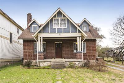 Nashville Single Family Home Under Contract - Showing: 1202 Riverside Dr