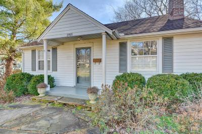 Nashville Single Family Home For Sale: 2905 W Linden Ave
