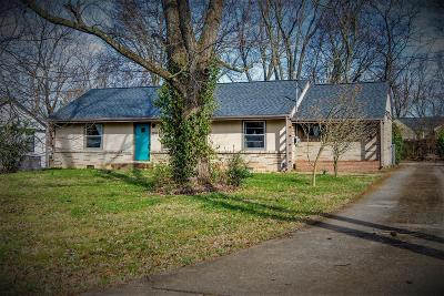 Nashville Single Family Home For Sale: 2818 Dunmore Drive