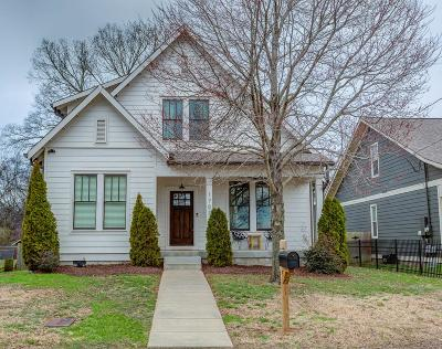 Nashville Single Family Home Under Contract - Not Showing: 1707 Sevier St