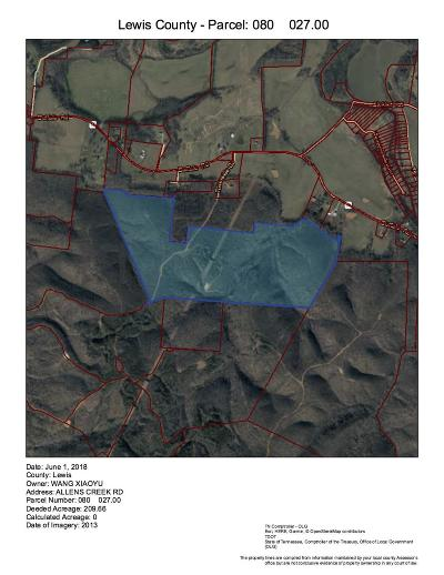 Hohenwald Residential Lots & Land For Sale: 1 Allens Creek Rd
