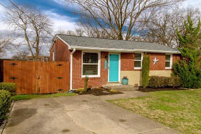 Nashville Single Family Home For Sale: 1607 Dorchester Ave