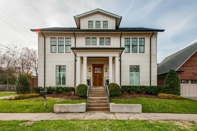 Nashville Single Family Home Under Contract - Showing: 1833 24th Ave S
