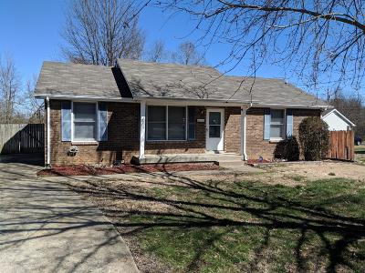 Clarksville Single Family Home Under Contract - Not Showing: 759 Needmore Rd