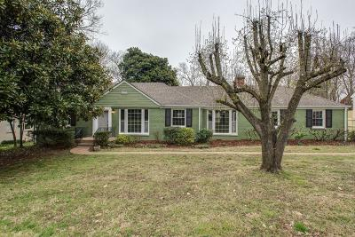 Nashville Single Family Home Under Contract - Showing: 3504 Rainbow Pl